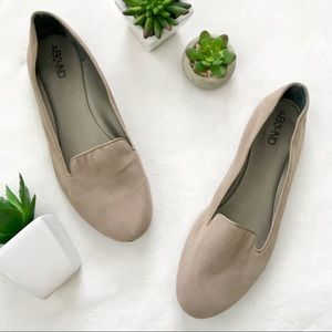 Nordstrom Abound taupe grey slip on loafers